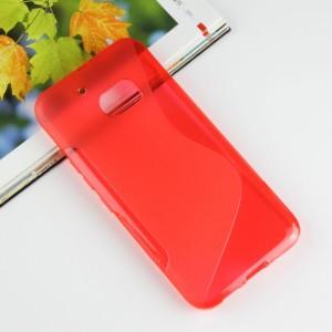 Силиконовый матовый полупрозрачный чехол с дизайнерской текстурой S для HTC 10