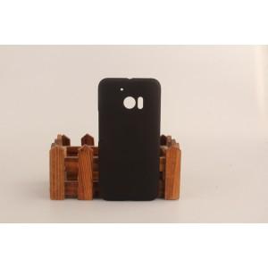 Пластиковый непрозрачный матовый чехол для HTC 10  Черный