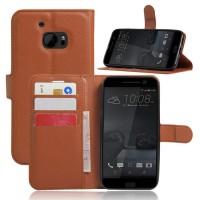 Чехол портмоне подставка на силиконовой основе на магнитной защелке для HTC 10