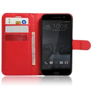 Чехол портмоне подставка на силиконовой основе на магнитной защелке для HTC 10 Красный