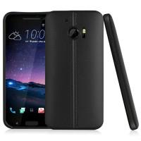 Силиконовый матовый непрозрачный дизайнерский фигурный чехол текстура Кожа для HTC 10