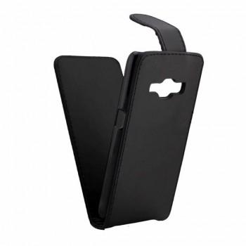 Чехол вертикальная книжка на пластиковой основе на магнитной защелке для Samsung Galaxy J1 (2016)