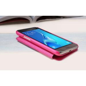 Чехол горизонтальная книжка на пластиковой нескользящей премиум основе для Samsung Galaxy J1 (2016)