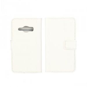 Глянцевый чехол портмоне подставка на пластиковой основе на магнитной защелке для Samsung Galaxy J1 (2016) Белый