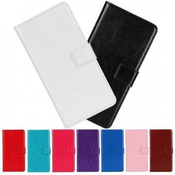 Глянцевый чехол портмоне подставка на пластиковой основе на магнитной защелке для Samsung Galaxy J1 (2016)