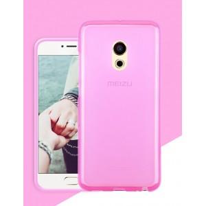 Силиконовый матовый полупрозрачный чехол для Meizu Pro 6  Розовый