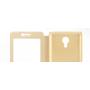 Чехол горизонтальная книжка подставка на пластиковой основе с окном вызова, свайпом на магнитной защелке для Meizu Pro 6