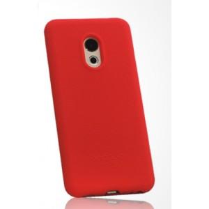Силиконовый матовый непрозрачный чехол с нескользящим софт-тач покрытием для Meizu Pro 6  Красный