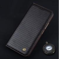 Кожаный чехол горизонтальная книжка (премиум нат. кожа) для Meizu Pro 6  Коричневый
