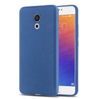 Силиконовый матовый непрозрачный чехол для Meizu Pro 6  Синий