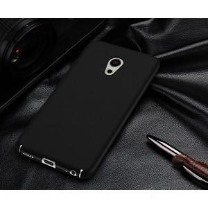 Пластиковый непрозрачный матовый чехол с улучшенной защитой элементов корпуса для Meizu Pro 6 Черный