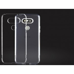 Силиконовый глянцевый транспарентный чехол для LG G5