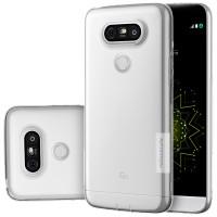 Силиконовый матовый полупрозрачный чехол повышенной защиты для LG G5  Белый