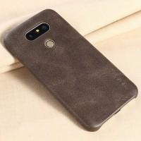 Чехол накладка текстурная отделка Кожа для LG G5  Коричневый