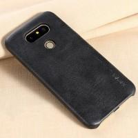 Чехол накладка текстурная отделка Кожа для LG G5  Черный