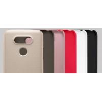 Пластиковый непрозрачный матовый нескользящий премиум чехол для LG G5