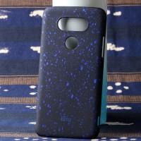 Пластиковый непрозрачный матовый чехол с голографическим принтом Звезды для LG G5  Синий