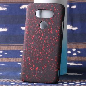 Пластиковый непрозрачный матовый чехол с голографическим принтом Звезды для LG G5