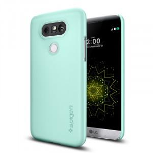Пластиковый непрозрачный матовый ультратонкий премиум чехол для LG G5