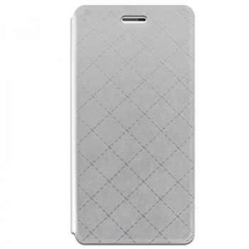 Чехол горизонтальная книжка подставка текстура Клетка на силиконовой основе для Xiaomi RedMi 3 Pro/3S Серый