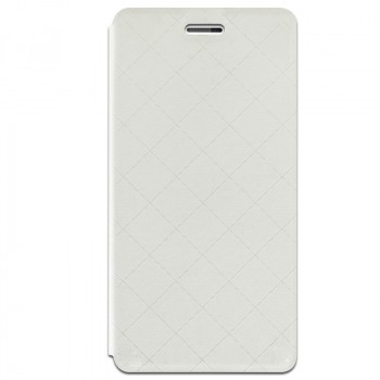 Чехол горизонтальная книжка подставка текстура Клетка на силиконовой основе для Xiaomi RedMi 3 Pro/3S Белый