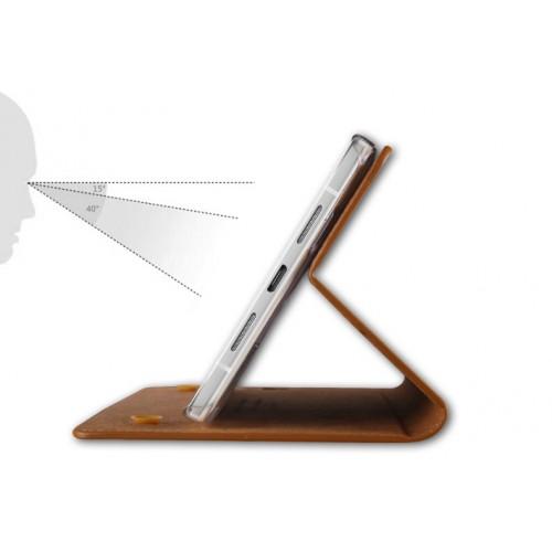 Вощеный чехол горизонтальная книжка подставка на силиконовой основе на присосках для Xiaomi RedMi 3 Pro/3S Черный
