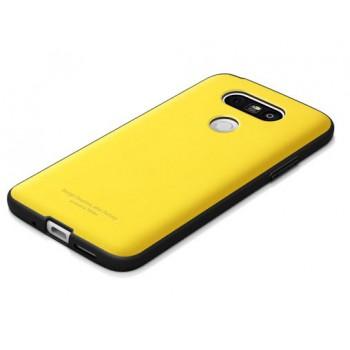 Силиконовый матовый непрозрачный противоударный чехол для LG G5