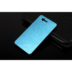 Пластиковый непрозрачный матовый чехол текстура Металл для Sony Xperia Z3 Compact  Голубой