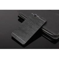 Пластиковый непрозрачный матовый чехол текстура Металл для Sony Xperia Z3 Compact  Черный