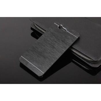 Пластиковый непрозрачный матовый чехол текстура Металл для Sony Xperia Z3 Compact