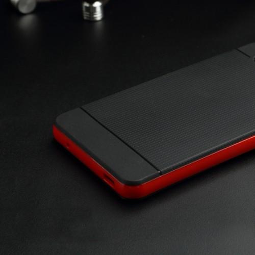 Двухкомпонентный силиконовый матовый непрозрачный чехол с поликарбонатным бампером для Sony Xperia Z3 Compact