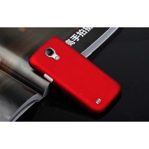 Пластиковый непрозрачный матовый чехол для Samsung Galaxy S4 Mini Красный