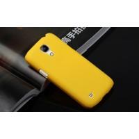Пластиковый непрозрачный матовый чехол для Samsung Galaxy S4 Mini Желтый