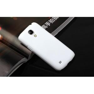 Пластиковый непрозрачный матовый чехол для Samsung Galaxy S4 Mini Белый