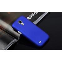 Пластиковый непрозрачный матовый чехол для Samsung Galaxy S4 Mini Синий