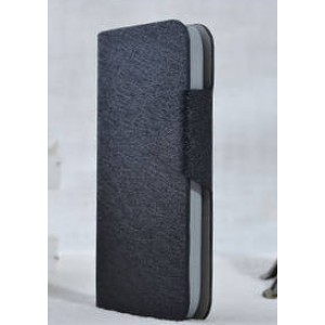 Чехол горизонтальная книжка подставка текстура Золото на пластиковой основе с отсеком для карт на магнитной защелке для Samsung Galaxy S4 Mini  Черный
