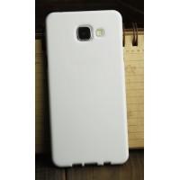 Силиконовый глянцевый непрозрачный чехол для Samsung Galaxy A3 (2016) Белый