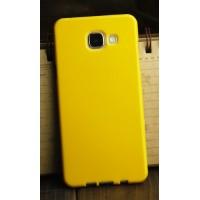 Силиконовый глянцевый непрозрачный чехол для Samsung Galaxy A3 (2016) Желтый