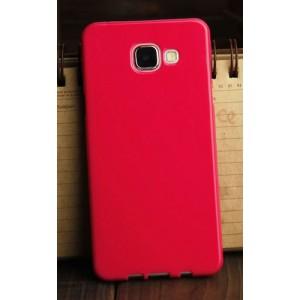 Силиконовый глянцевый непрозрачный чехол для Samsung Galaxy A3 (2016) Пурпурный