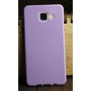Силиконовый глянцевый непрозрачный чехол для Samsung Galaxy A3 (2016) Фиолетовый