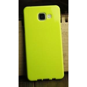 Силиконовый глянцевый непрозрачный чехол для Samsung Galaxy A3 (2016) Зеленый