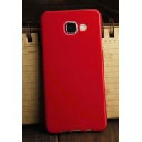 Силиконовый глянцевый непрозрачный чехол для Samsung Galaxy A3 (2016) Красный