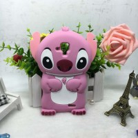 Силиконовый матовый непрозрачный дизайнерский фигурный чехол для Lenovo A536 Ideaphone  Розовый