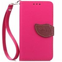 Чехол портмоне подставка на силиконовой основе на дизайнерской магнитной защелке для Lenovo A536 Ideaphone  Розовый