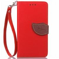 Чехол портмоне подставка на силиконовой основе на дизайнерской магнитной защелке для Lenovo A536 Ideaphone  Красный