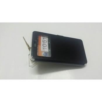 Чехол горизонтальная книжка подставка на силиконовой основе с окном вызова на магнитной защелке для Lenovo A536 Ideaphone