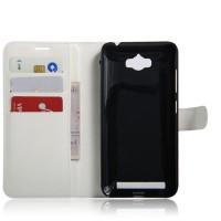 Чехол портмоне подставка на силиконовой основе на магнитной защелке для ASUS ZenFone Max  Белый