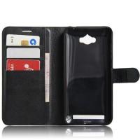 Чехол портмоне подставка на силиконовой основе на магнитной защелке для ASUS ZenFone Max  Черный
