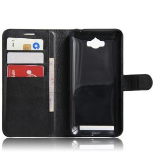 Чехол портмоне подставка на магнитной защелке для ASUS ZenFone Max Черный