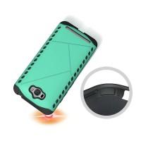 Противоударный двухкомпонентный силиконовый матовый непрозрачный чехол с поликарбонатными вставками экстрим защиты для ASUS ZenFone Max  Зеленый